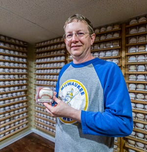 Ben Nummerdor of Cedarburg has collected more than  900 baseballs signed by members of the Milwaukee Brewers. A ball signed by Harvey Kuenn is one of his favorites. Ben's goal is to have a signature from every person to have played with the Brewers team since 1970, at which point he plans to donate the collection to Children's Wisconsin.