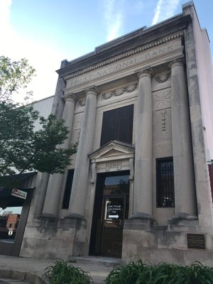 The more than 100-year-old First National Bank building on Main Street in Downtown Dickson.