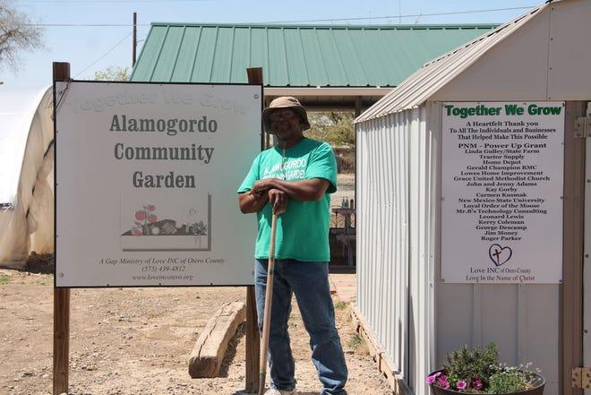 Leonard Lewis of the Alamogordo Community Garden