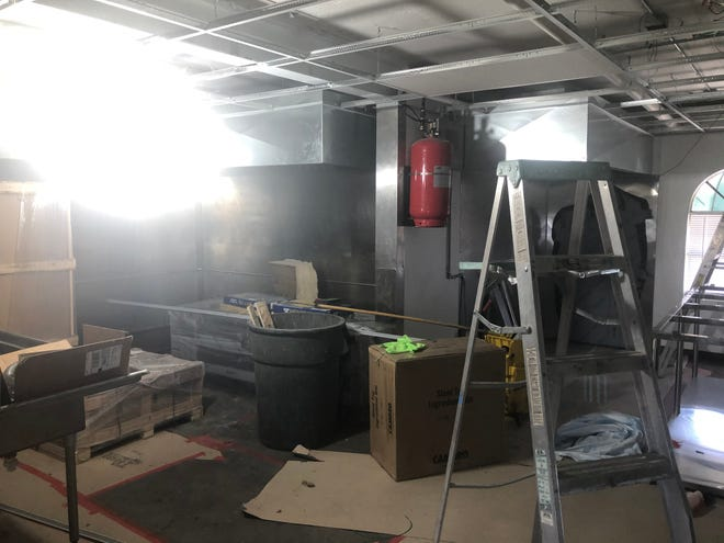 Clancy's Irish Cantina makes room to install new cooking equipment, including a new oven, fryer and flattop grill, ahead of its revised reopening timeline, which will be either April 19 or April 20.