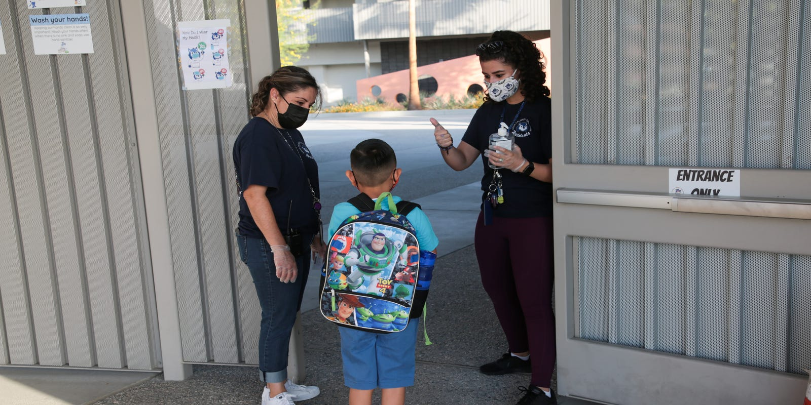 Palm Springs school district returns some students to classrooms for first time in 13 months