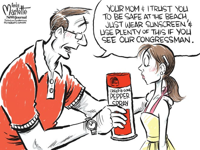 Marlette cartoon: Creep-b-Gone Pepper Spray