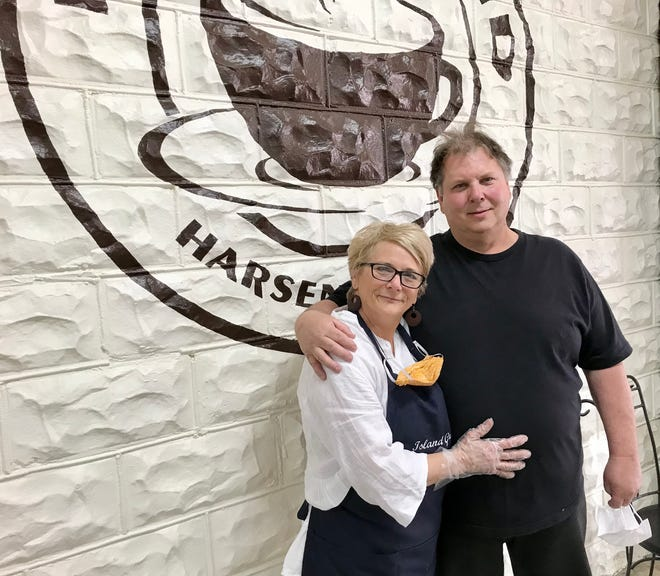 Harsens Island couple Patty and Harold Bain have opened Island Grind coffee shop at  3062 S. Channel Drive.