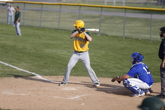 Northeastern baseball junior Payton Lumpkin batting against Muncie Burris on Tuesday, April 6, 2021.