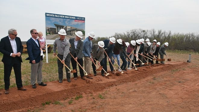 Wichita Falls ISD held two groundbreaking ceremonies April 12, for the two new high school that will be built and open in the Fall of 2024.