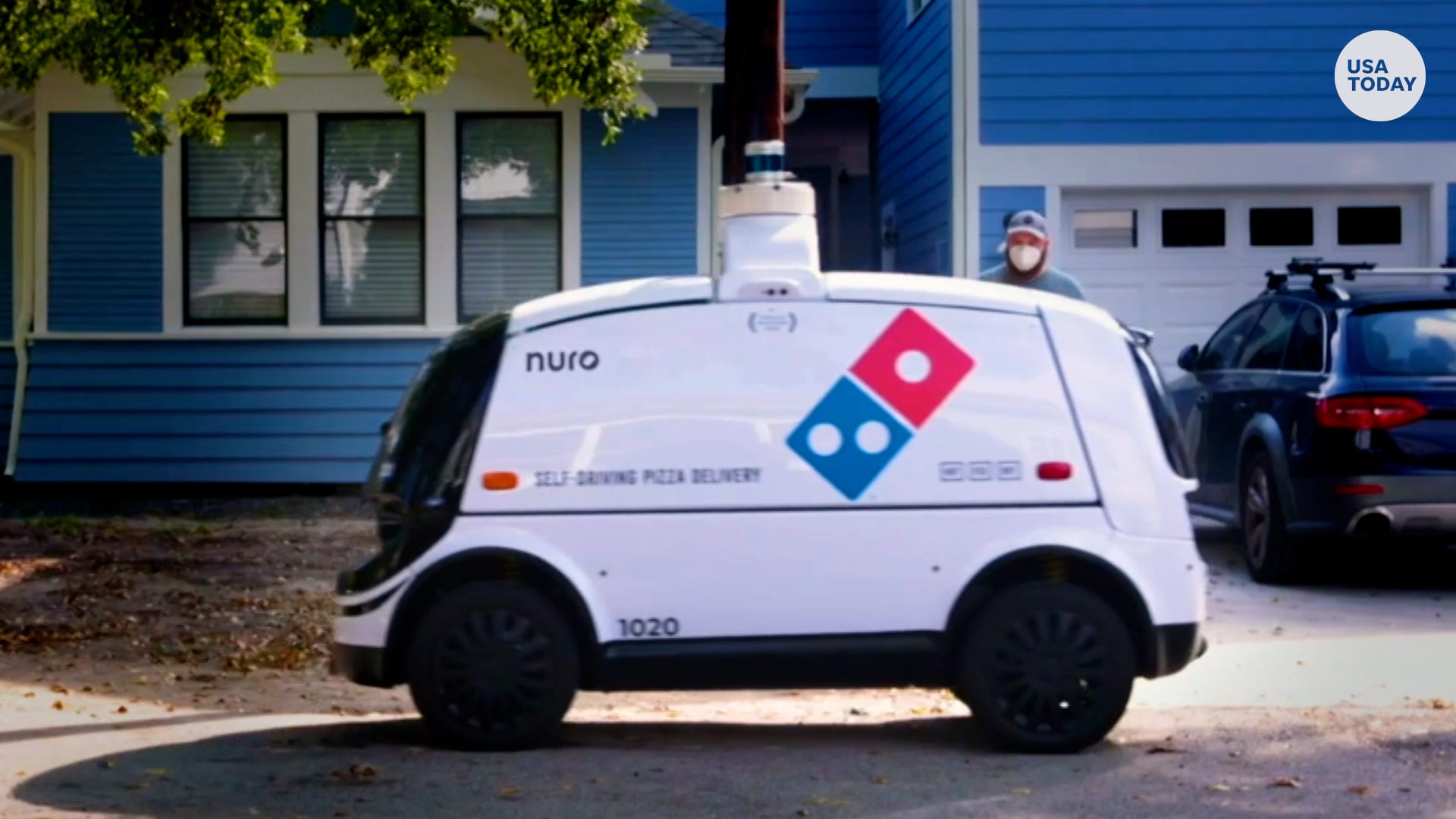 Driver not included.  Domino's pizza delivery robots roll out