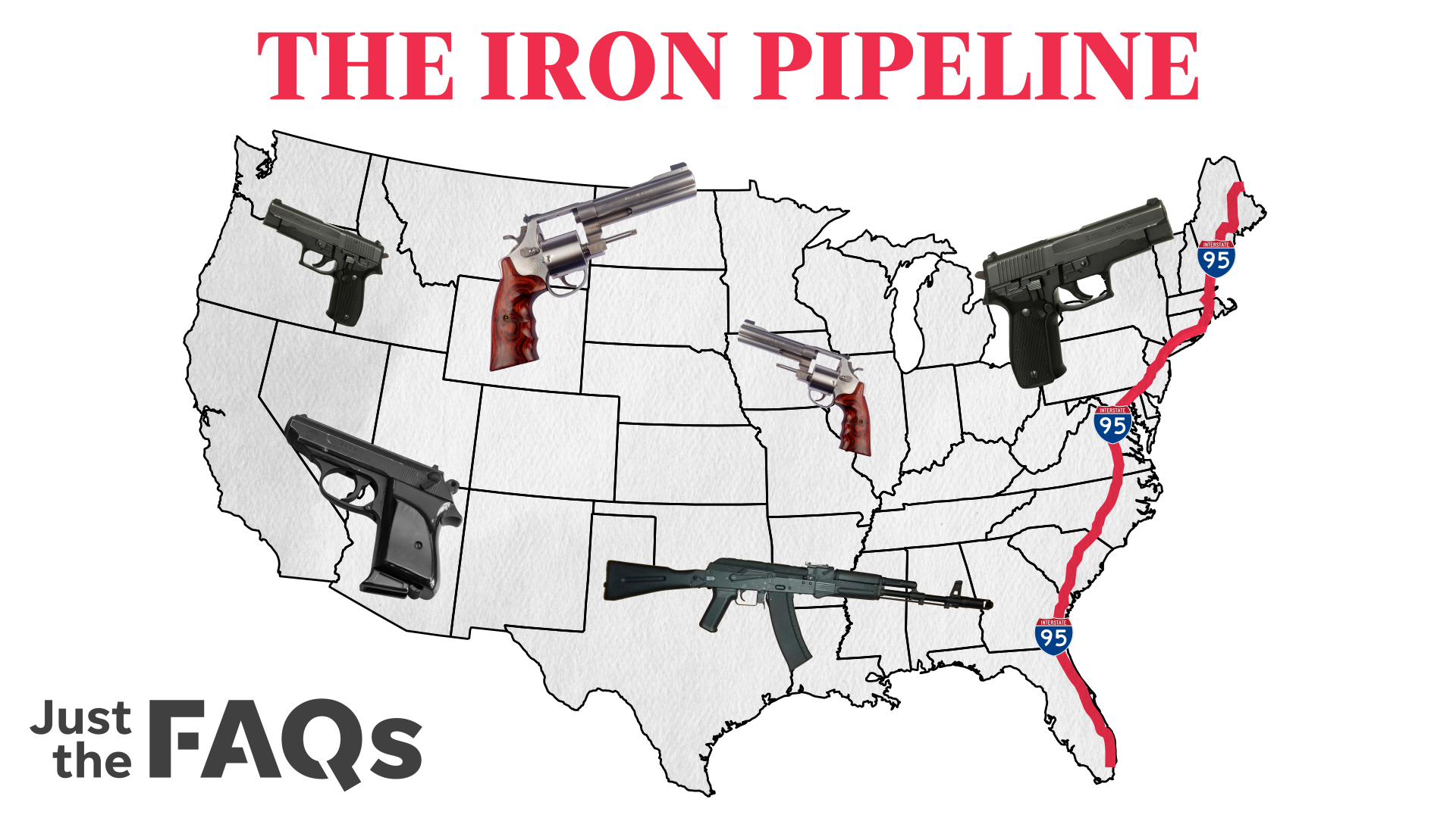 How guns are smuggled from state to state on the iron pipeline