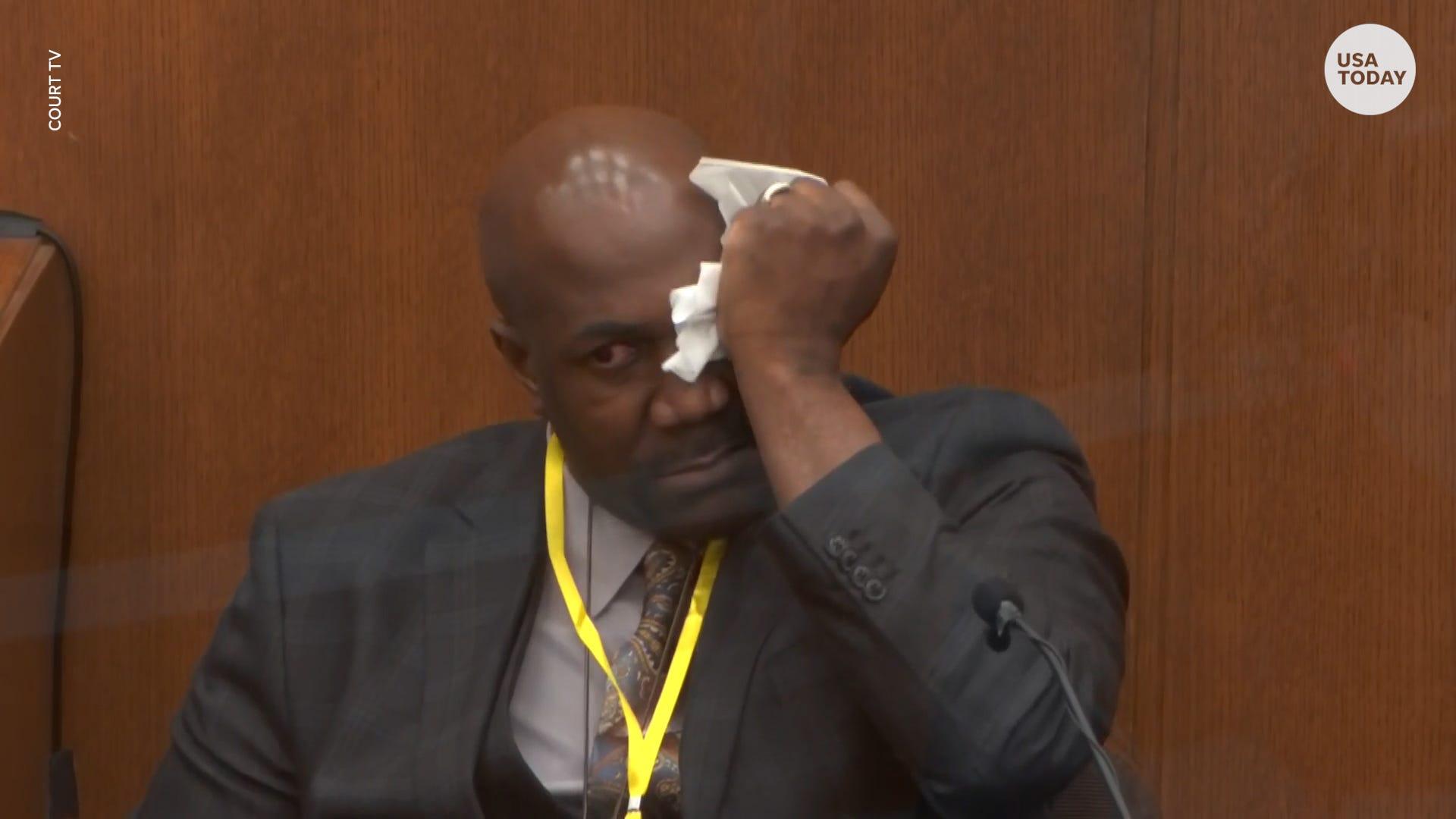 George Floyd's brother collapses as he testifies in Derek Chauvin trial