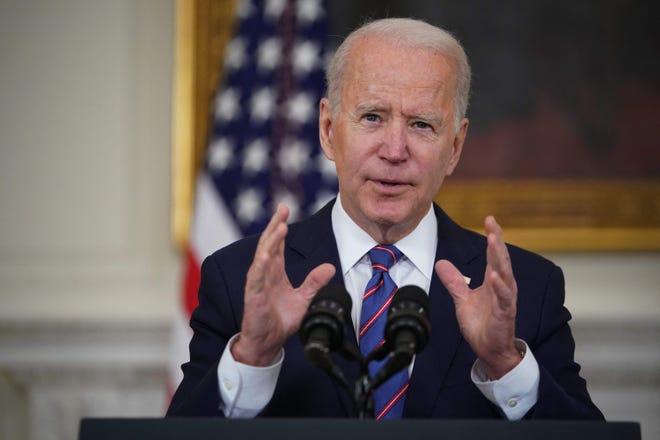 President Joe Biden on April 2, 2021, in Washington, D.C.