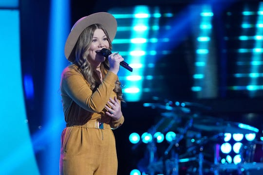 """Rachel Mac during """"Blind Auditions"""" on """"The Voice."""""""