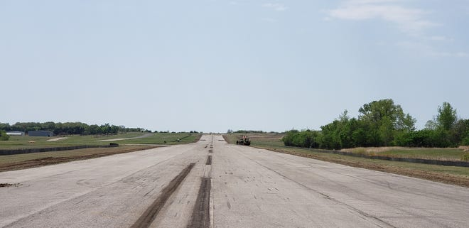 The runway at the Ardmore Downtown Executive Airpark is currently undergoing a renovation to be resealed and remarked. It will also be lined with new LED lights.