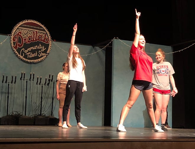 """Ballard High School students rehearse the """"Hairspray"""" number for the production of """"Drallab Community Talent Show and 'Lutefisk & Lefse Feedfest.'"""""""