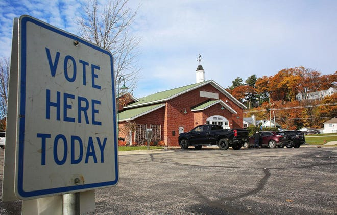 A polling place in Harbor Springs in 2020 is shown.