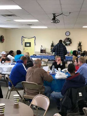 Love Token, a nonprofit dedicated to ministering to the homeless, will host a Pasta Palooza free community meal on April 17 at Coggins Memorial Baptist Church. Unlike at previous community meals, attendees will not eat together in the church's fellowship hall, but will receive their meal by going through a drive-thru line to pick up to-go plates.