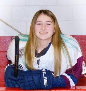 Riley Bain of West Bridgewater High has been selected to The Enterprise All-Scholastic Hockey Team.