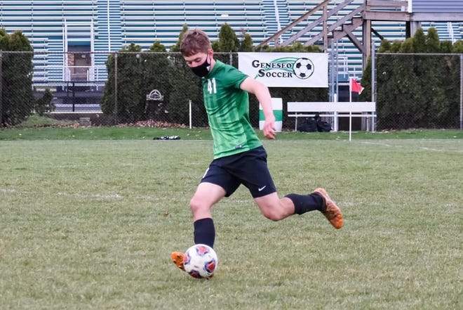 Charlie Rice is part of the Geneseo soccer defense that allowed only 2 shots on goal in the match between the Leafs and Quincy. The Leafs defense and goalies have had 7 straight games with no goals scored against them and only four goals have been scored on the team in this season.