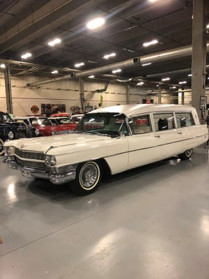 The 1964 Cadillac hearse that transported former President John F. Kennedy's body from Parkland Memorial Hospital to Air Force One after his death in November 1963 will be on display to the public at the grand opening of Tebo's Corner in Hill City.