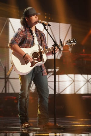 """Caleb Kennedy sings a Chris Stapleton cover """"Midnight Train to Memphis"""" during Sunday's episode of American Idol."""