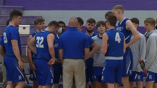 Luke Parsons gathers with his Ripley Vikings during a recent game. The Vikings will be the No. 2 seed in the upcoming Class AAA, Region IV, Section 1 Tournament. Ripley opens with No. 3 Winfield on Wednesday.