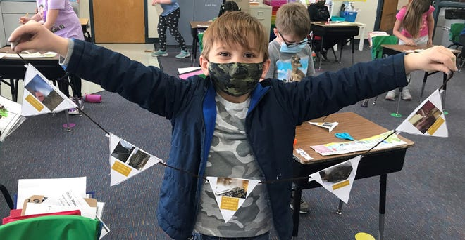 The Agriculture in the Classroom program recently taught students in Ogle and Carroll counties the five steps to making maple syrup. Pictured: Jest Ruble.