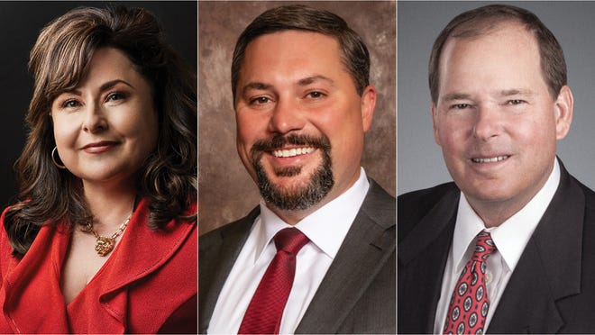 Graphic of newly appointed regents attached (L-to-R: Arcilia Acosta, Cody Campbell, Patrick Gordon)
