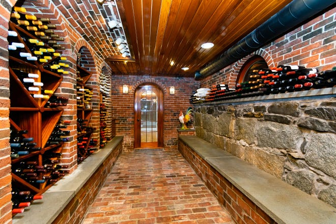 With enough room to store 1,500 bottles at ideal temperatures and humidity, the wine cellar is the place for serious collections.