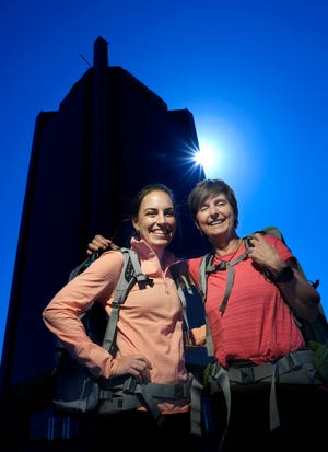 Valari and Jess Wedel hope to become the first mother-daughter duo to climb Mount Everest. In preparation for the climb, they climbed the stairs in BancFirst Tower. It's how flat-landers (and even a lot of people who live in the mountains) train for big climbs.