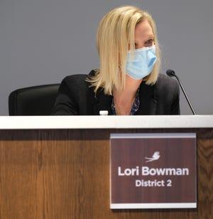 Board member Lori Bowman at Monday's Oklahoma City Board of Education meeting.