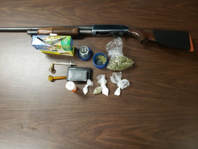 Iberville Parish Sheriff's narcotics officers seized guns and drugs during an arrest.