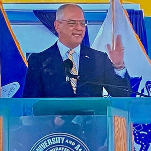 Gov. John Bel Edwards delivers his State of the State address to lawmakes,