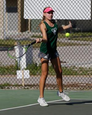 Venice High sophomore Nicole Cierniak had a 9-1 record at No. 1 singles and was 11-1 at No. 1 doubles in 2021.