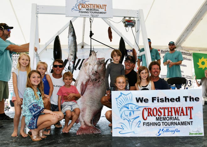 Team Seaviche poses for a photo with their catch at The 35th Annual Crosthwait Memorial Fishing Tournament hosted at the Bradenton Yacht Club  in 2018.
