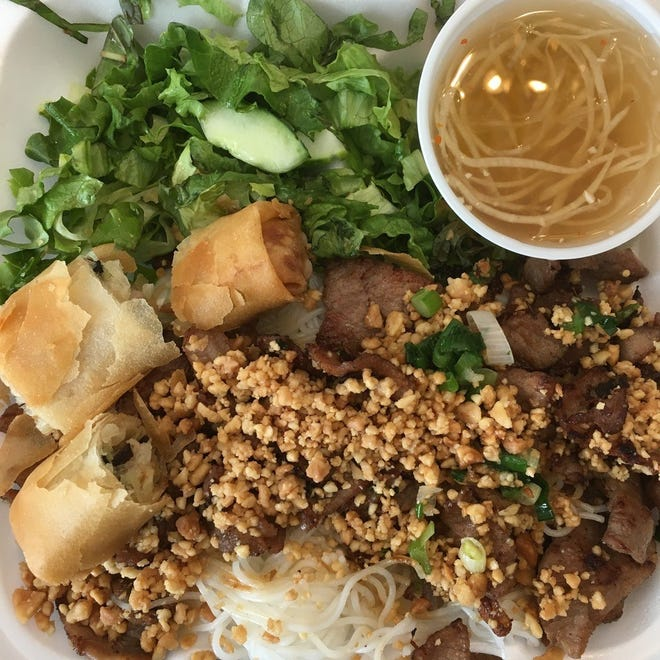 This is the Bun Thit Nuong Cha Gio from Little Saigon.