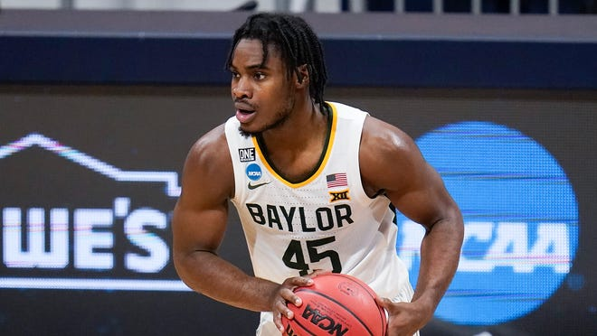 Baylor guard Davion Mitchell of Hinesville plays against Villanova during a Sweet 16 game in the NCAA men's college basketball tournament at Hinkle Fieldhouse in Indianapolis on March 27.