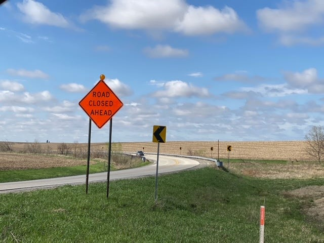 County Highway 5 between 1450 and 1550 is closed for construction this week.