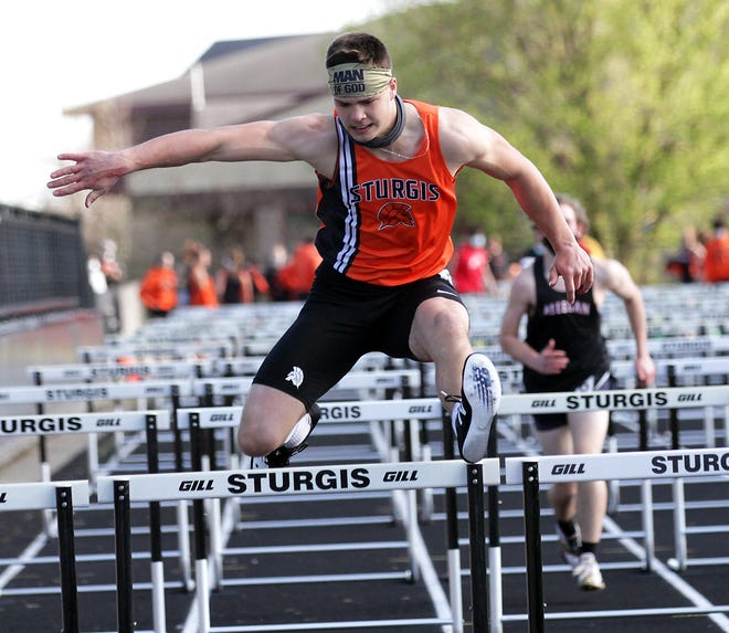 Connor Strudwick finished fourth overall in the 110 hurdles on Tuesday afternoon.
