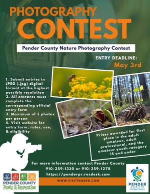 Pender County Tourism and Pender County Parks & Recreation announce the 2021 Pender County Nature Photography Contest.