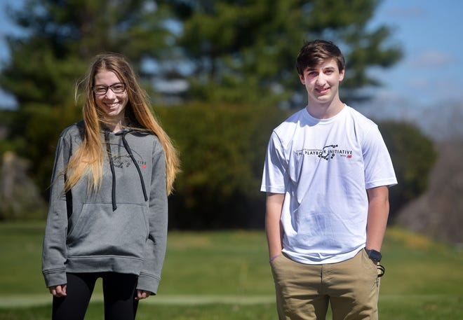 Wachusett Regional senior Katie Mangus and Sutton Memorial High junior Will Edwards recently took part in leading hundreds of eighth-grade Project 351 Ambassadors from across the state in an anti-bias training in partnership with the Boston Celtics and Project 351.