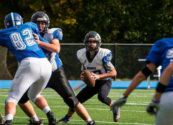 Murdock quarterback Jack Polcari is always a threat to pass or run with the ball.