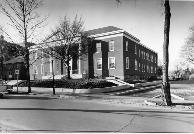 This photo from April 6, 1961, was taken the day the building was sold, from Worcester Mutual Fire Insurance Co. to the Roman Catholic Diocese of Worcester.