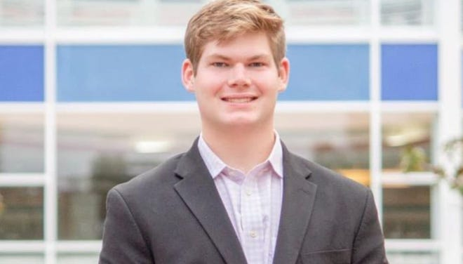 Calhoun Wolverton, a University of Florida sophomore studying finance and accounting, is in the UF Health Shands Hospital ICU after being hit in an accident while crossing 13th Street near Krispy Kreme early on April 8. (Photo courtesy of Tobin Wolverton)