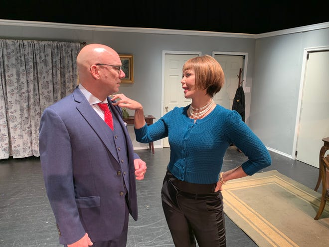 "Michael Hunter and Daphne Lewis appear in a scene from ""Last of the Red Hot Lovers,"" the new production by Kaleidoscope Theatre."