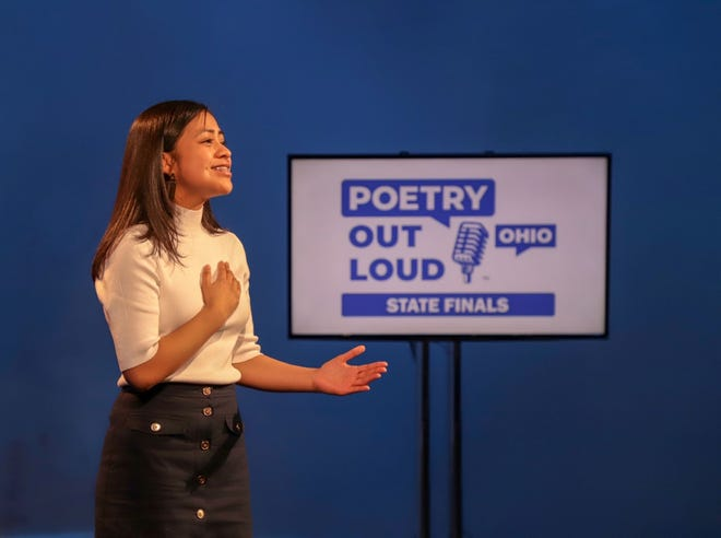 Monserrat Tlahuel-Flores, a senior at St. Francis DeSales High School, won the Poetry Out Loud state championship March 5. She will compete in the national competition May 2 and 27.