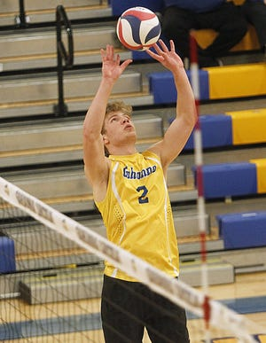 """Senior setter Logan Burrell helped Gahanna win six matches in a row after dropping its first two. """"We're getting there,"""" coach Mike Sage said. """"They're going to be contenders."""""""