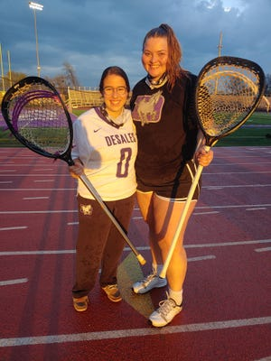 DeSales goalies Carmela Cua (left) and Abby Reagan are thriving while sharing time in net as the Stallions seek their second consecutive Division II state title. Cua, a senior, missed the beginning of the season because of an injury. Reagan, a junior, was a freshman starter two years ago at Westerville South.