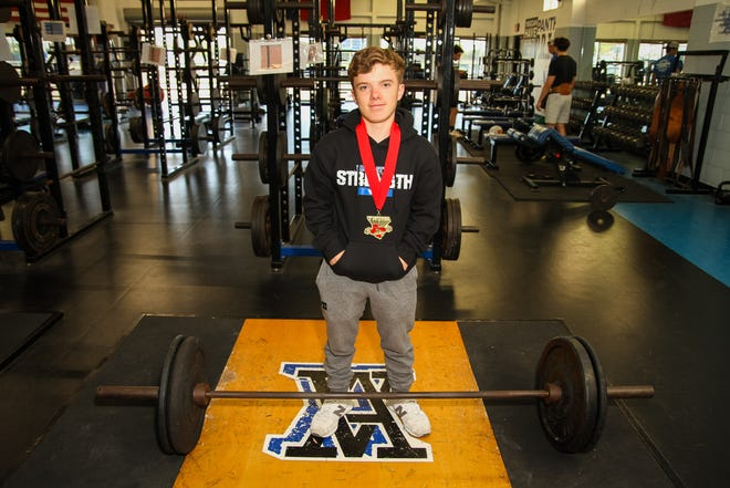 Austin Cuthbertson, broke two state records on his way to earn the gold medal.