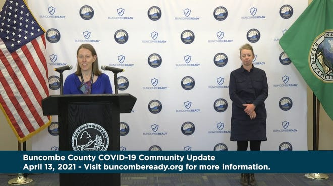 Buncombe County Health & Human Services Medical Director Dr. Jennifer Mullendore gives an update on COVID-19 on April 13, 2021.