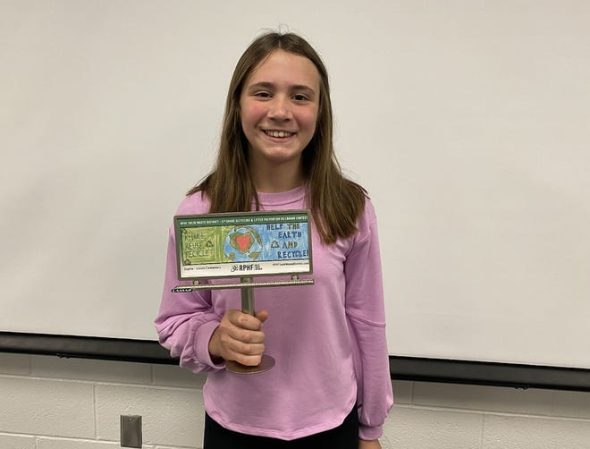 Sophie Hanes, a fifth-grade student at Unioto Elementary School, was selected as the Ross County winner of the RPHF Solid Waste District 2021 Earth Day billboard contest. Her design can be found on Western Avenue in front of Carter Lumber.