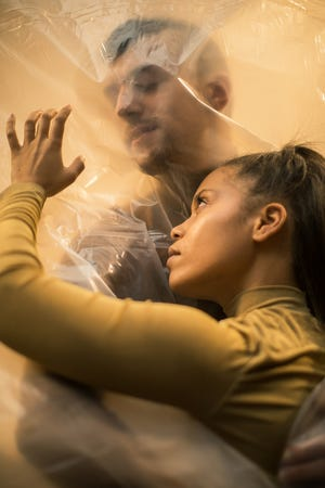 Jasmine Snellen and Jacob Shade are seen in a promotional photo for the Mutual Dance Theatre's debut performances, running through May 1.
