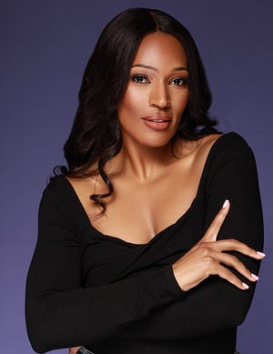 """Kron Moore, originally from Detroit, plays First Lady Victoria Franklin on """"Tyler Perry's The Oval"""" on BET."""